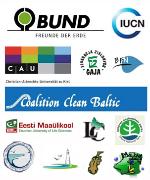 Logos der Baltic Green Belt-Partner